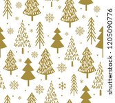seamless christmas pattern with ...   Shutterstock .eps vector #1205090776