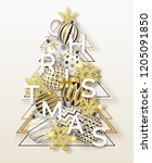 christmas background with... | Shutterstock .eps vector #1205091850