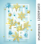 winter background with shining... | Shutterstock .eps vector #1205091853