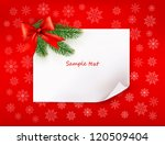 christmas red background with... | Shutterstock .eps vector #120509404