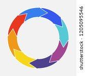 vector circle arrows for...   Shutterstock .eps vector #1205095546