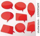 vector stickers thought  speech ... | Shutterstock .eps vector #1205095699