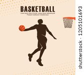 basketball player background... | Shutterstock .eps vector #1205101693