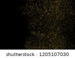 gold glitter texture isolated... | Shutterstock . vector #1205107030