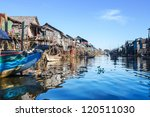 Village On Water In Cambodia