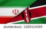 flag of iran and kenya | Shutterstock . vector #1205114359