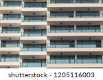 repeating pattern of windows... | Shutterstock . vector #1205116003