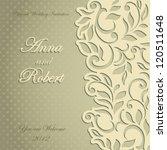 elegant stylish wedding... | Shutterstock .eps vector #120511648