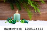 candle and christmas... | Shutterstock . vector #1205116663