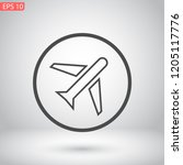aircraft vector icon 10 eps