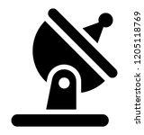 satellite for transmitting... | Shutterstock .eps vector #1205118769
