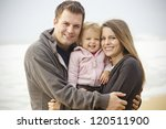 beautiful young family portrait ...   Shutterstock . vector #120511900