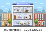 vetclinic city building with... | Shutterstock . vector #1205120293