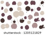 hand drawn set of sepia colored ...   Shutterstock .eps vector #1205121829