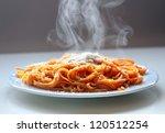 Italian Spaghetti Steaming Wit...