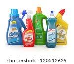plastic detergent bottles on... | Shutterstock . vector #120512629