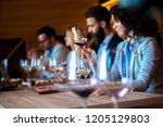 sommeliers at the winery | Shutterstock . vector #1205129803
