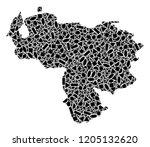 mosaic map of venezuela...   Shutterstock .eps vector #1205132620