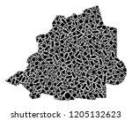 mosaic map of vatican created...   Shutterstock .eps vector #1205132623