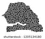 mosaic map of senegal formed...   Shutterstock .eps vector #1205134180