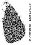 mosaic map of sri lanka...   Shutterstock .eps vector #1205134186
