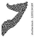 mosaic map of somalia created...   Shutterstock .eps vector #1205134189