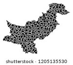 mosaic map of pakistan composed ...   Shutterstock .eps vector #1205135530