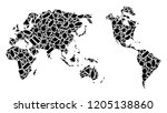 mosaic map of earth created...   Shutterstock .eps vector #1205138860