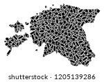 mosaic map of estonia formed...   Shutterstock .eps vector #1205139286