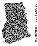 mosaic map of ghana created...   Shutterstock .eps vector #1205139310
