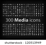media icon set   vector  ...
