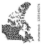 mosaic map of canada composed...   Shutterstock .eps vector #1205140276