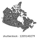 mosaic map of canada formed...   Shutterstock .eps vector #1205140279