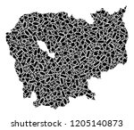 mosaic map of cambodia designed ...   Shutterstock .eps vector #1205140873