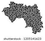 mosaic map of african guinea...   Shutterstock .eps vector #1205141623