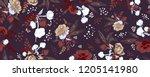 floral fall autumn field... | Shutterstock .eps vector #1205141980