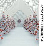 christmas with withe and red | Shutterstock . vector #120514204