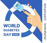 world diabetes day banner with... | Shutterstock .eps vector #1205145130