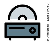 digital cd player   Shutterstock .eps vector #1205149750