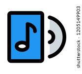 music cd storage   Shutterstock .eps vector #1205149903