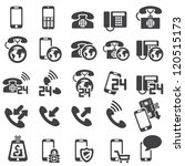 set of phone icons | Shutterstock .eps vector #120515173