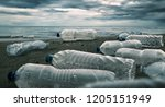 plastic water bottles pollution ... | Shutterstock . vector #1205151949