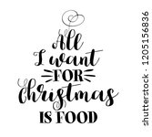 all i want for christmas is... | Shutterstock .eps vector #1205156836
