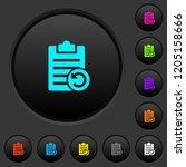 undo note changes dark push...   Shutterstock .eps vector #1205158666