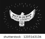 hand lettering those who wait... | Shutterstock .eps vector #1205163136