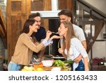 time to prepare lunch | Shutterstock . vector #1205163433
