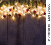 christmas and new year holidays ... | Shutterstock . vector #1205164000