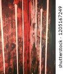 black concrete wall texture or... | Shutterstock . vector #1205167249
