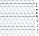 white geometric background... | Shutterstock .eps vector #1205171023