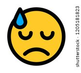dissapointed face emoji | Shutterstock .eps vector #1205181823